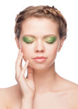 Woman with beautiful makeup Royalty Free Stock Photography