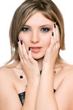 Portrait of a pretty young woman. Isolated Royalty Free Stock Image