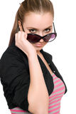 Portrait of pretty young woman in sunglasses Stock Photography