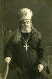 Portrait of priest. Vintage portrait circa 1911 christian priest Stock Images
