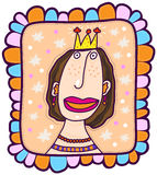 Portrait of a princess Royalty Free Stock Image