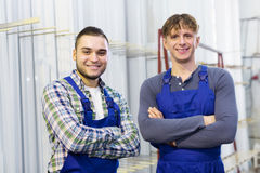 Portrait of production workers Royalty Free Stock Images
