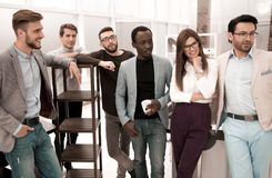 Portrait of a professional business team in the office royalty free stock image