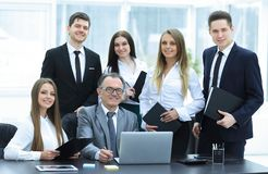Portrait of a professional business team in the office royalty free stock photo