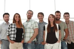 Portrait of a professional business team royalty free stock photos