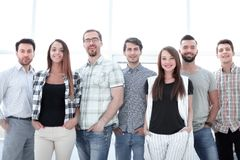 Portrait of a professional business team stock images