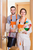 Portrait of professional cleaners Stock Image