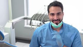 Professional Dentist in the Office stock footage