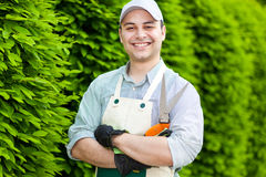 Portrait of a professional gardener Royalty Free Stock Photos