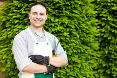 Portrait of a professional gardener Stock Image