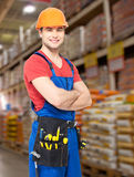 Portrait of the professional handyman at store Royalty Free Stock Photography