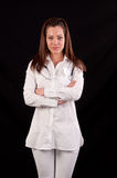 Portrait of a professional medical woman doctor, with stethoscop Stock Images