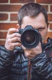 Portrait of a professional photographer Stock Photos