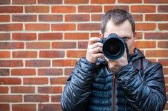 Portrait of a professional photographer Stock Photo