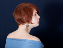 Portrait in a profile Royalty Free Stock Photo