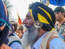 Portrait in profile at Kumbh Mela Royalty Free Stock Photography