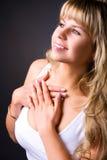 portrait profile smiling woman young Στοκ εικόνες με δικαίωμα ελεύθερης χρήσης