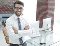 Portrait of a prospective employee Stock Images