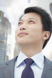 Portrait of Proud and Ambitious Businessman Looking Away Royalty Free Stock Images