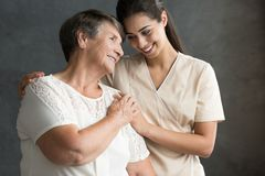 Portrait of grandma and granddaughter Royalty Free Stock Photos