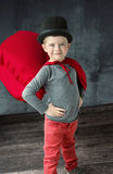 Portrait of a proud little magician Royalty Free Stock Photo