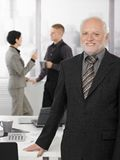 Portrait of proud senior executive in office Royalty Free Stock Photography