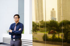 Portrait proud serious chinese asian office worker Royalty Free Stock Photography