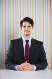 Portrait puissant d'homme d'affaires image stock