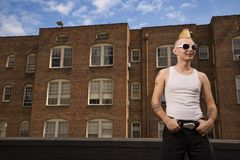 Portrait of a punk outside. Stock Photography