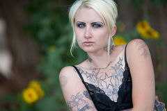 Portrait of punk rocker chick Stock Images