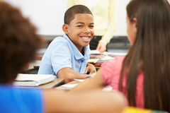 Portrait Of Pupil In Class Royalty Free Stock Photography