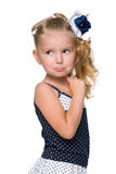 Portrait of a puzzled little girl Royalty Free Stock Photos