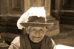Portrait of Quechua old woman Royalty Free Stock Photos