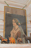 Portrait of Queen Victoria in Haveli, Jaisalmer Stock Photography