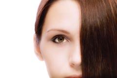Portrait of quiet girl close up Stock Images