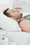 Portrait of a quiet man sleeping Royalty Free Stock Photo