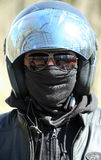 Portrait of racer in helmet Royalty Free Stock Image