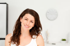 Portrait of a radiant woman in pyjama Stock Image