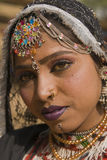 Portrait of a Rajasthani Dancer Royalty Free Stock Photos