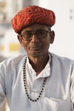 Portrait of a Rajput Indian Man. In Pushkar, Rajasthan, India Royalty Free Stock Photo