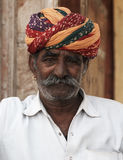 Portrait of a Rajput Man. Rajasthan, India Royalty Free Stock Image