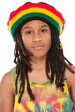 Portrait of a rasta boy Stock Images