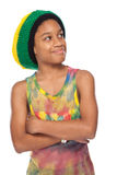 Portrait of a rasta child Stock Photography