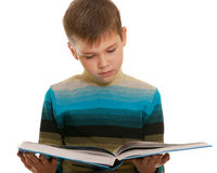 Portrait of a reading kid Stock Photo