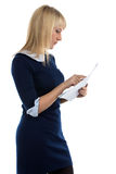 Portrait of reading woman Royalty Free Stock Photos