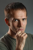 Portrait of a real man Royalty Free Stock Images