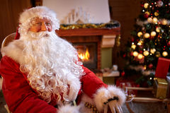 Portrait of real Santa Claus Royalty Free Stock Image
