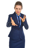 Portrait of reasoning business woman Stock Photos
