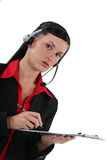 Portrait of a receptionist Stock Images