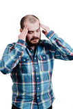 Portrait of a red-bearded, balding male brutal. White isolated b Royalty Free Stock Image